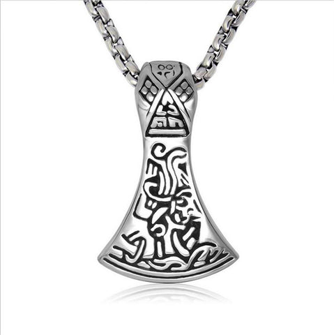 Axe titanium steel pendant classics jewelry+ Chain SP514