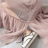 2018 Sweet women skirts big ham elastic waist folding net gauze summer