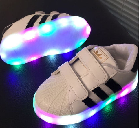 1-6 Ages Kids unisex Lightning Led Sneaker