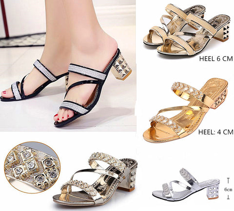 2017 Bling Platform Sandals Crystal Summer Casual Shoes Women Heels