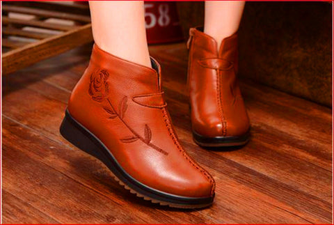 Leather winter boot Light soft heat preservation effect best  SCE037