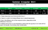 2018 Designer Creates Summer New Dress Irregular Shirt Women Top