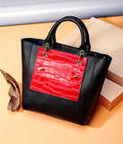 2017  Barque leather tote women handbags multiple straps easy carry