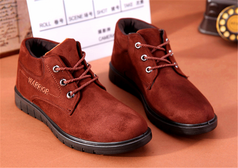 New winter men sheep leather shoes winter suede shoes Inner nap non-slip boots