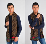 New men's warm letter checkered scarf cashmere scarves MS0002
