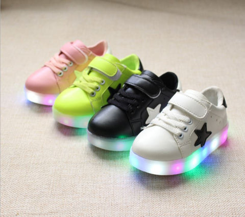 1-6 Ages Lightning Led Sneaker Unisex Daily shoes