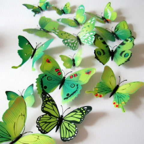 12PCS 3D PVC Magnet Butterflies DIY Wall Sticker Home Decor New Arrival Hot Sales