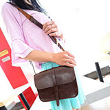 Stylish Belt and Solid Color Design Women's Crossbody Bag