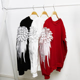 2017 Fashion 3D angel wing unisex sweatshirt adult kid blouse o neck sport top