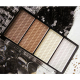 Free 1PC New Charming Women Necessary Four Color Pressed Powder Highlight Contour Shading Powder Cosmetic Make-up