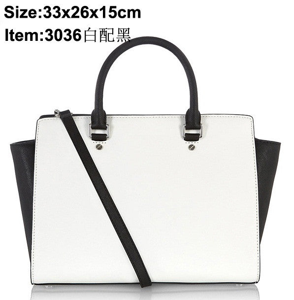 Famous Designers Selma Large Saffiano Leather Satchel  Women Bags