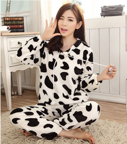 winter coral fleece thickening loungewear and nightwear warm soft skin comfortable pajamas