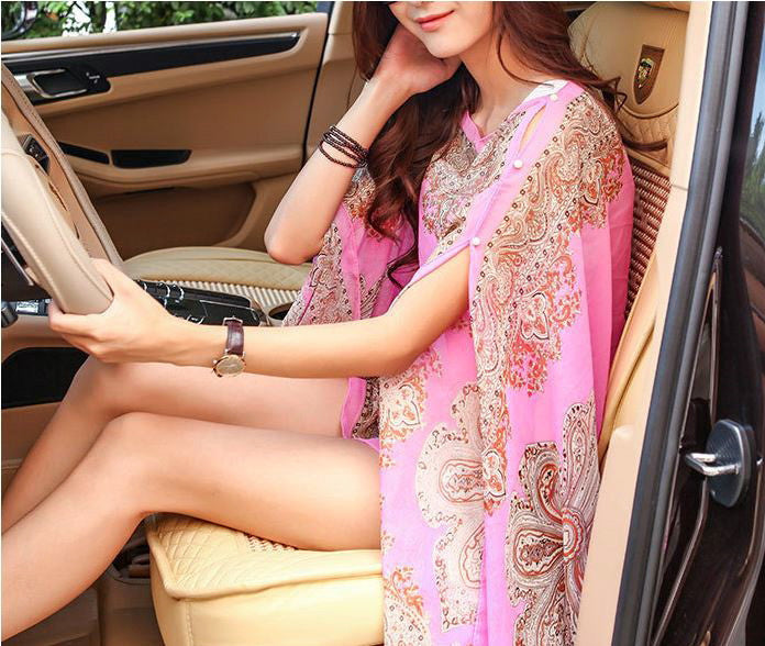 2017 Printed Village summer Colorful Scarves Shawl Wrap Beach Cover Sarong