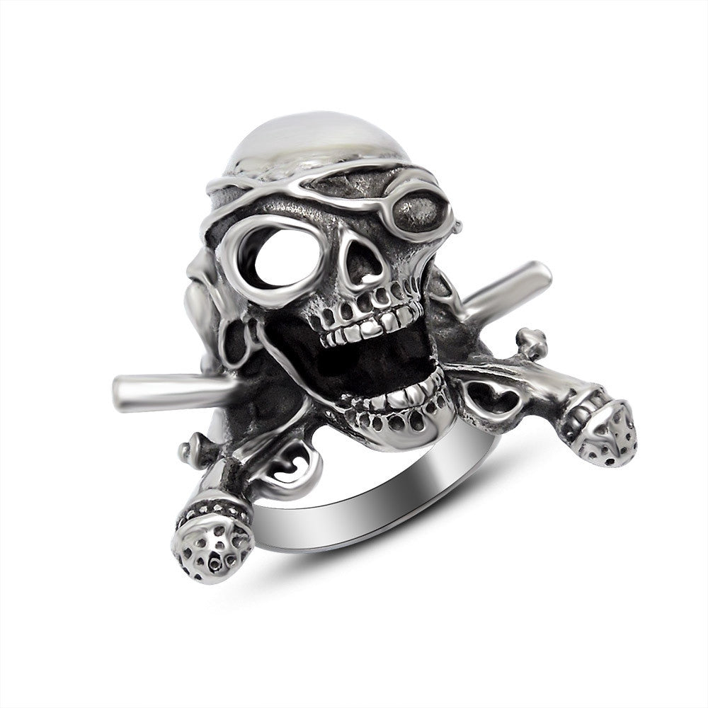 Fashion Ring Stainless Steel Rings For Man domineering publicity unique Skull jewerlry SA397