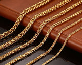 6MM Gold Plated Chain Necklace Unisex Jewelry