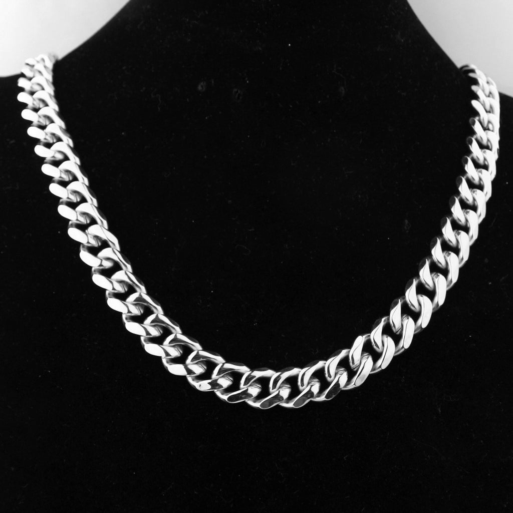 7-13 mm  24inch Chain Silver Titanium Steel Necklaces Unisex Link Chain