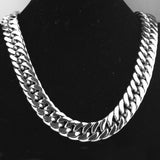 19/21mm 60cm Length Classics Man jewelry Necklaces Titanium Stainless  316 L Chain Unisex Collars