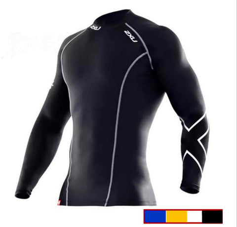 2XU compression man top elastic fitness tight man sleeve quick-drying