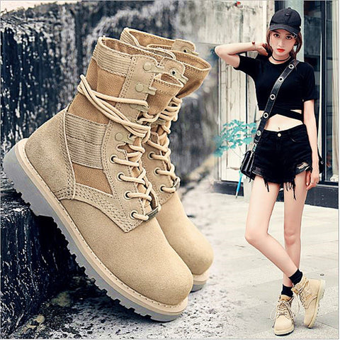New Classic Military Jungle Boots - Desert Tan Tactical Boot Unisex