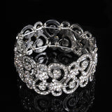 2017 Elegance sparkly  CZ crystals pearl women bracelets party wedding jewelry 5 models