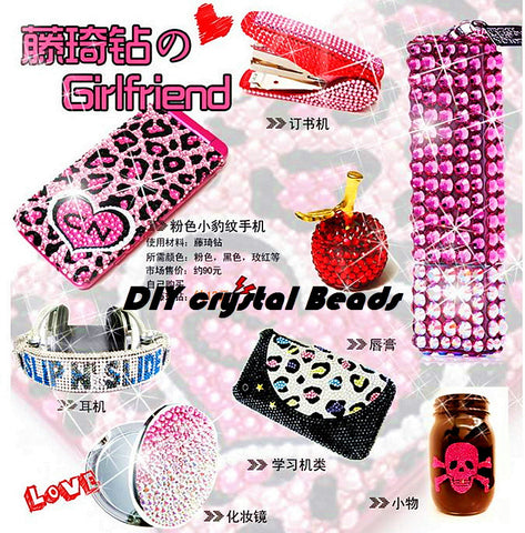 DIY 3000 Pcs Glaze Beads Crystal Glass Jewelry With Gift Decorate Your Loves Accs High Qulity