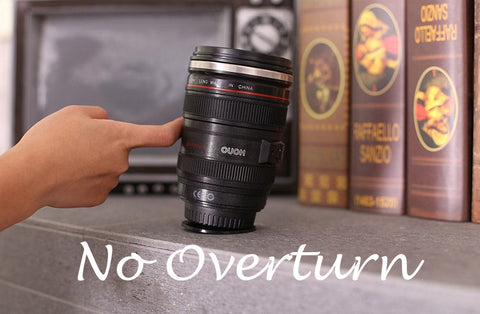 No overturn unique camera lens coffee mug 400ml