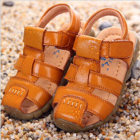 1-12 Ages Summer Kid Cowhide Leather Sandals Casual Shoes