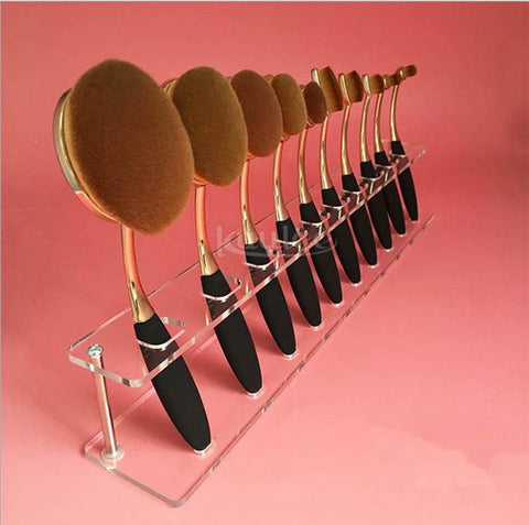 10pcs Makeup Brushes Holders Acrylic Dry Brushes Rack