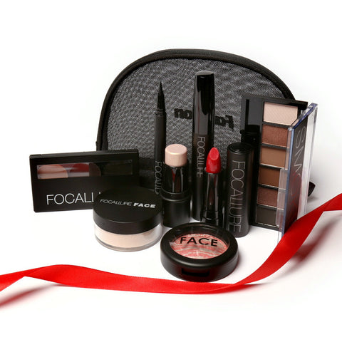 FOCALLURE professional make up 8 pcs carry out travel sets