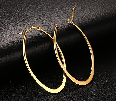 New classics women earrings titanium steel ear clip type/ a pair