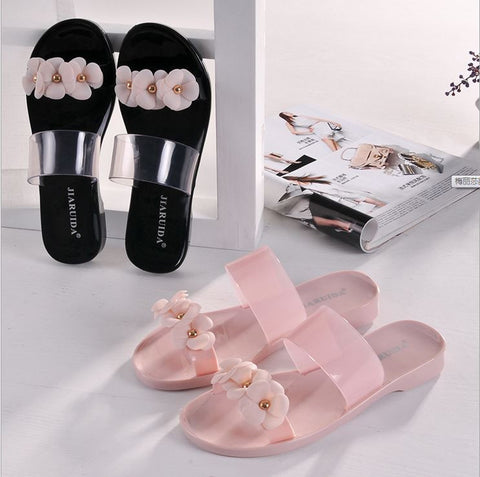 New beach Shoes women slippers soft soles non-slip two models