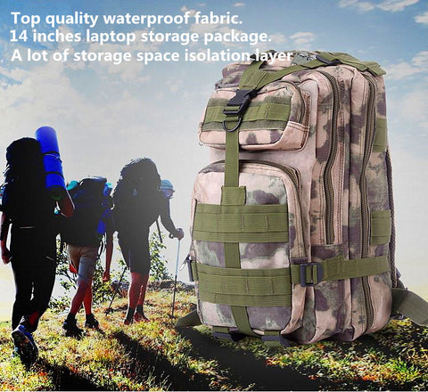 Outdoor Waterproof 30L Military tactical attack backpack Camouflage backpack Tactical backpack