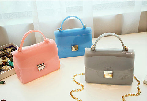 13 colors cute Jelly shoulder bag lady cross body bags handbags