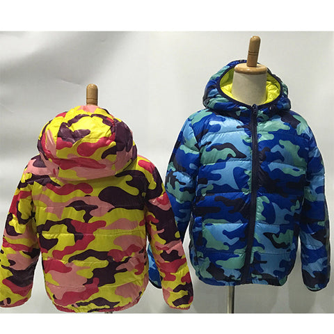 AB wear winter kids unisex down jacket 90% duck fine feather guality