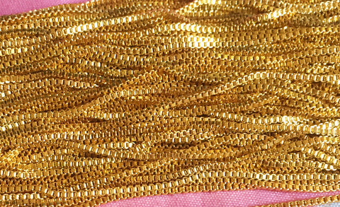 2mm/55cm 316L Stainless steel  chains gold plated & Silver US SELLER