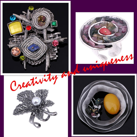 Creativity and uniqueness geometric brooch hat collar scarf pin pendant accessories