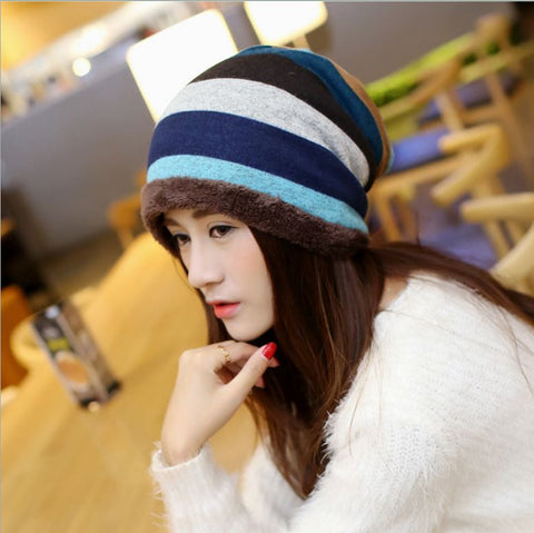 Fashion unisex beanie hat turtleneck cap winter