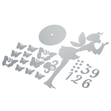 The butterfly fairy mirror wall post w/Clock solid wall fashion and personality- Seliver