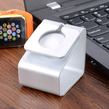 Portable Aluminum Alloy Charging Stand for Apple Watch - Silver