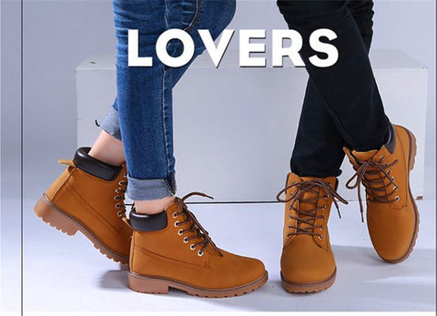 New fashion Lovers Marten Boots Lace-Up Unisex Spring / Winter 2 model 5 colors