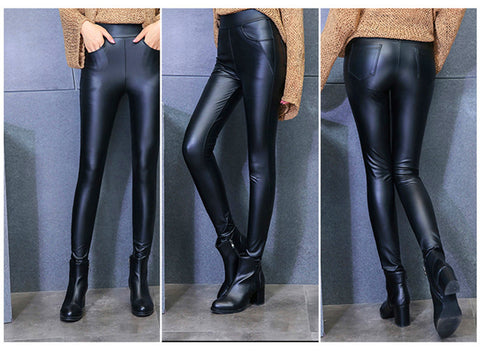 Plus High Quality Thicken Pockets Soft Legging Draping Winter Pants