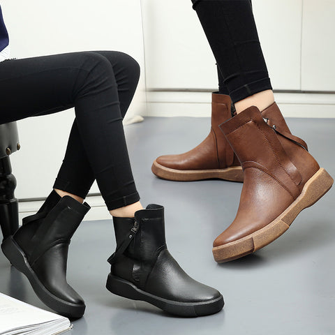 Retro New Marten Boots Winter Women casual shoes ankle boots