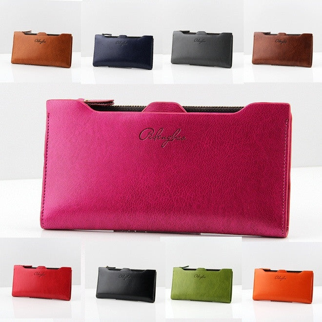 New Style PU Leather Bestselling Solid Women Wallets with Cion Pocket Medium Zipper Causal Purse Mult-Card Holder