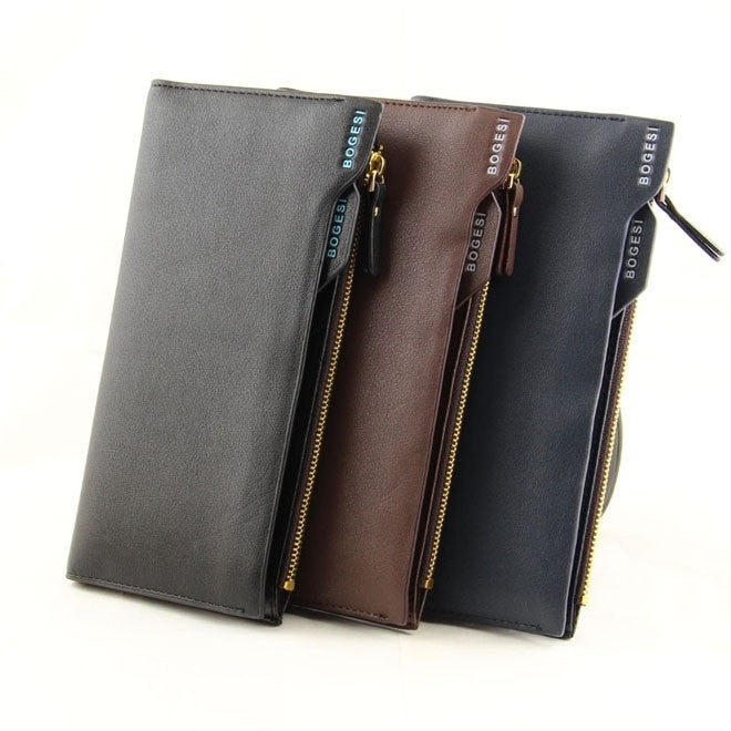 Men Long Wallet Multifunctional 2015 Fashion Genuine Leather Brand Wallets Card holder Purse Pockets New Hot
