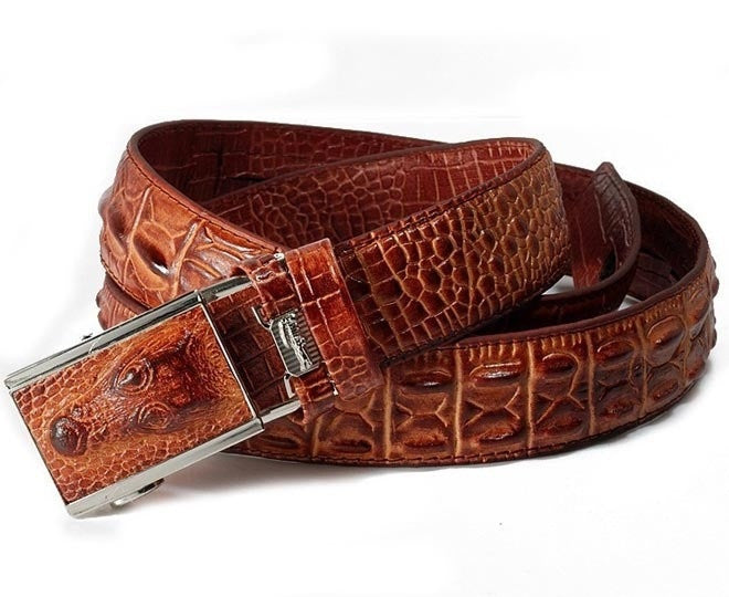 new arrival style Men Belts fashion antique luxury Genuine Leather crocodile design
