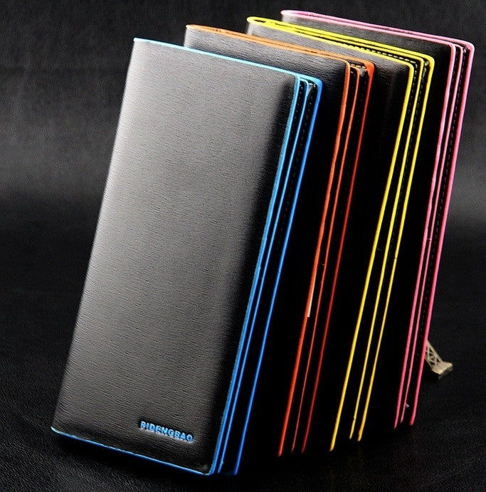 new men wallet wholesale business casual long section of color edge fashion women long purse  wallet  Card Holder