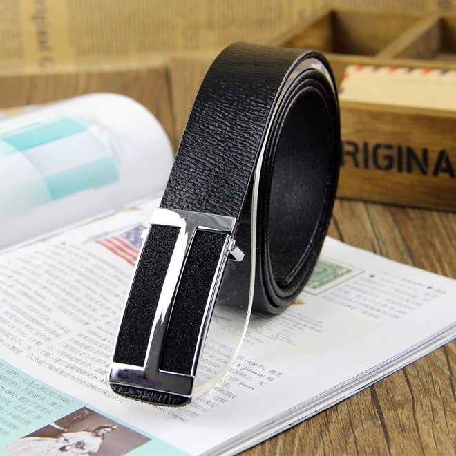 new men casual leather belt buckle belts fashion delicate process black coffee color genuine Leather