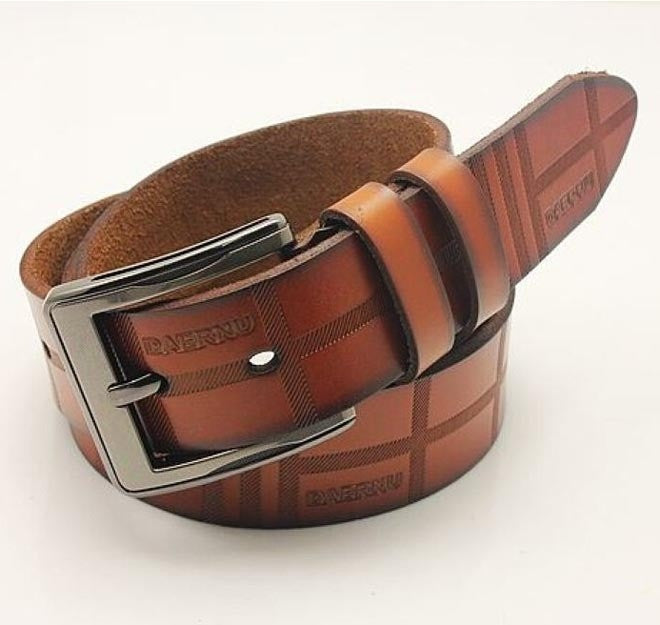 New Men Women Fashion Belt Top Quality Genuine Leather Casual Metal Buckle 4Colors Gentalman's All-match