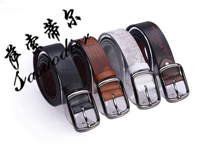 New Version Fashion Men Women Belt Brand PU Metal Button Buckle 4 Colors Casual Gentalman's All-match