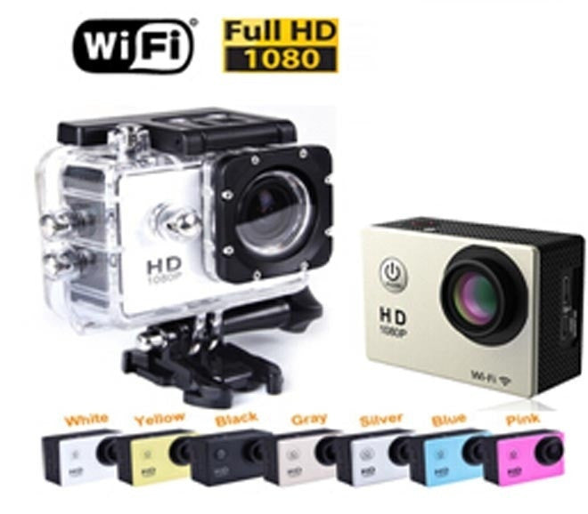 WiFi Version SJ4000 1080P Full HD Extreme Sport DV Action Camera Diving 30M Waterproof 2X Battery